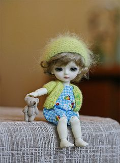.a cute dolly with her teddy for you my sweet Vylette <3
