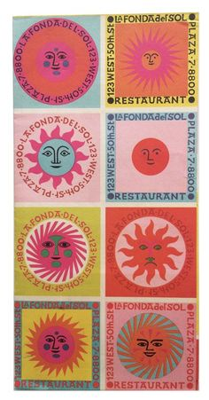 Alexander Girard poster design for La Fonda del Sol Photocollage, Grafik Design, Art Plastique, Graphic Design Inspiration, Vintage Graphic Design, Wall Collage, Art Inspo, Design Art, Modern Design