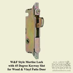 Mortise Lock/Patio Door latch - available at Abstract Glass Mortise Lock, Sliding Patio Doors, Wood Vinyl, Door Latch, Abstract, Glass, Products, Summary, Drinkware