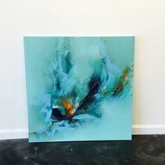 Abstract acrylic blue painting by Brittany Lee Howard