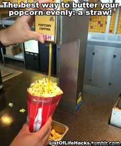 The ONLY way to butter your movie popcorn