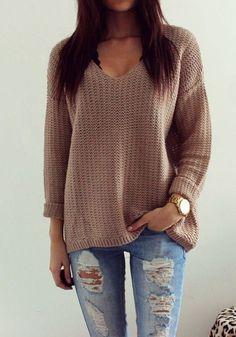 Details Size Shipping • 100% Acrylic Wool • Knit V-Neck oversize ...
