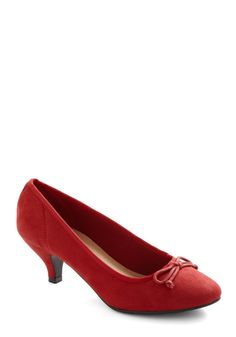 $49.99 Metro Marvelous Heel in Red - Red, Solid, Bows, Work, Holiday Party, Mid