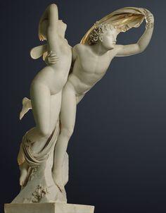 Henri-Joseph RUTXHIEL  (1775 - 1837).  Zéphyr enlevant Psyché.  Marbre.    Paris, musée du Louvre.