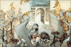 Zelda Fitzgerald's painting of the Arc de Triomphe. (via Zelda's Paintings - Arc de Triomphe) Scott And Zelda Fitzgerald, La Art, Triomphe, Belle Epoque, Beautiful Paintings, Art Inspo, Illustrators, Original Art, Gallery