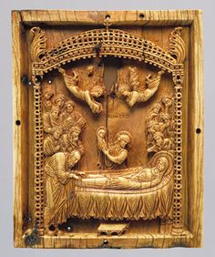 "This artifact is the Icon with the Koimesis (""Falling Asleep"") of Virgin Mary which was found in the late 10th century. This image became one of the most popular icons in late Byzantine era. This figure would many times be found on the doors of churches, since they were the first to follow Christian values."