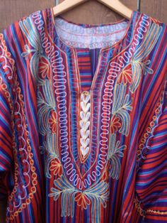 Ethnic Tunic Dress with Beautiful Embroidery by ReynasCloset, $24.00