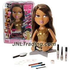 MGA Entertainment Bratz Fashion Designer Funky Fashion Makeover 12 Inch Tall Torso Doll - YASMIN with Make-Up Accessories and Hairbrush