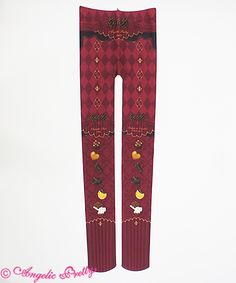 Lolibrary | Angelic Pretty - Socks - Antique Chocolaterie Tights