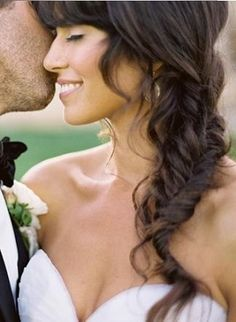 Fishtail side braid ** Maybe for a bridesmaid?