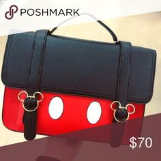 92fc3f267e8b Mickey Mouse Satchel - Primark NWT 12x8x3.5 measurements approximately Faux  leather Magnetic closure Long