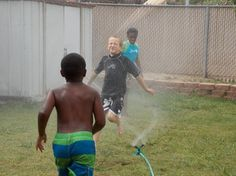 """Nothing compares to running through the sprinklers on a hot summer day!"" #iivhope"