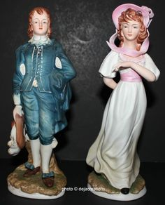 Lefton China Blue Boy Pinkie Figurines Limited Edition KW387 Pinky Collectible | eBay
