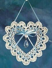 Items similar to Crochet heart dream catcher/lacework doily - heart suncatcher - japanese crochet eb Crochet Video, Thread Crochet, Crochet Doilies, Crochet Flowers, Crochet Hearts, Crochet Owls, Crochet Animals, Crochet Christmas Ornaments, Crochet Snowflakes