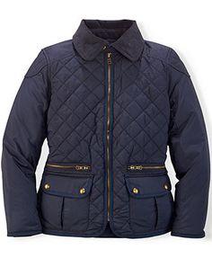 Ralph Lauren Girls' Diamond-Quilted Jacket