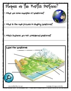 free geology worksheets | Science journal activities on Geology - Mrs. Grauer ...