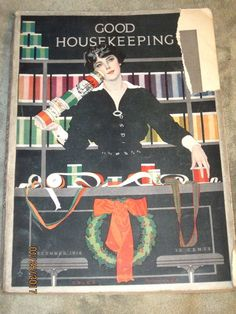 Good Housekeeping 12/1916 Coles Phillips~the Kewpies Rose O'Neill~W.T Benda~Cars