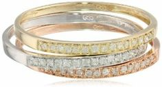 10k Tri-Colored Gold Diamond Stack Ring (1/4 cttw, J-K Color, I2-I3 Clarity), Set of 3, Size 9 http://blackdiamondgemstone.com/colored-diamonds/jewelry/loose-gemstones/10k-tricolored-gold-diamond-stack-ring-14-cttw-jk-color-i2i3-clarity-set-of-3-size-9-com/