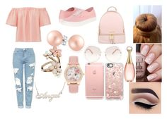"""""""Angel in light PINk"""" by the-black-flower11474 on Polyvore featuring beauty, Rebecca Taylor, Topshop, Vans, Bling Jewelry, Accessorize, MICHAEL Michael Kors, Chloé, Christian Dior and Casetify"""