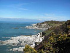 Sunny March day at Morthoe North Devon