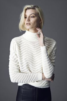 Bell Knit from mbyM Winter 2014  #WhiteKnit #White #Turtleneck #Delicate #Knitwear