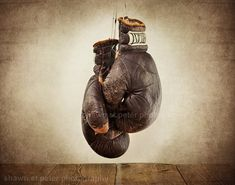 Vintage Boxing Gloves Photo Print Fathers Day by shawnstpeter