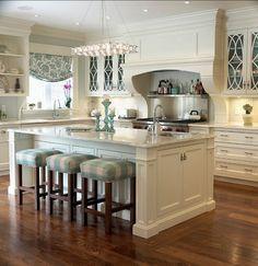 Кухня в стиле кантри с островом в центре фото