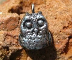 Little Owl Necklace Pendant or Charm in Sterling Silver, Harry Potter, Nature Inspired,$32, no chain