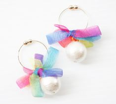 2015.3.4 ーーーーーーー rainbowflower earring