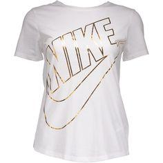 NIKE W ICON FUTURA TEE ❤ liked on Polyvore featuring tops, t-shirts, shirts, nike, nike top, tee-shirt, t shirt and nike t shirt