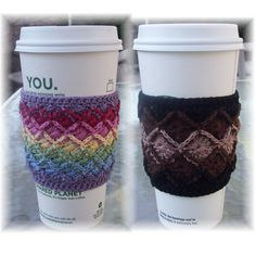 CraftyAnna: Free Crochet Pattern: Mug Cozy . I have never heard of Bavarian Crochet before Crochet Coffee Cozy, Crochet Cozy, Crochet Gratis, Free Crochet, Crochet Style, Ravelry Crochet, Bavarian Crochet, Coffee Cozy Pattern, Knitting Patterns