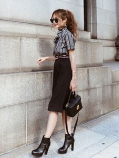 Akaneさんのコーディネート Work Fashion, Daily Fashion, Everyday Fashion, Fashion Looks, Fashion Outfits, Womens Fashion, Cool Style, My Style, Work Looks