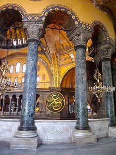 Hagia Sophia - Church was built by Byzantine Emperor Justinian (Eastern Roman Emperor), in 5th century in Istanbul, Turkey.