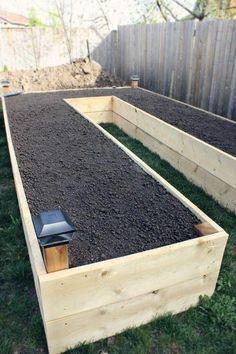 Raised Garden Bed Plans, Building Raised Garden Beds, Raised Beds, Raised Garden Beds Cinder Blocks, Raised Vegetable Gardens, Vegetable Garden Design, Vegetable Gardening, Container Gardening, Gardening Hacks