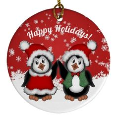 Cute penguins dressed in their holiday best. *Customize with your own text. Christmas Items, Christmas Holidays, Christmas Decorations, Christmas Ornaments, Holiday Decor, Holiday Boutique, Cute Penguins, Invite Your Friends, Holiday Outfits