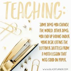 Wait, you mean teaching doesn't always go according to plan? Hopefully that math lesson wasn't during your observation!