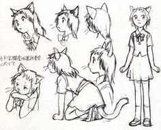 croquis_17.jpg le royaume des chats Studio Ghibli