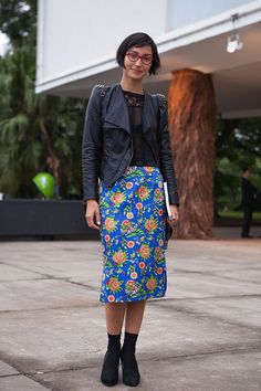 Street style SPFW Inverno 2014 - Dia 2 - floral