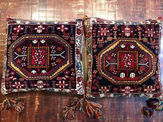 Pair of Persian Pillows | From a unique collection of antique and modern persian rugs at https://www.1stdibs.com/furniture/rugs-carpets/persian-rugs/