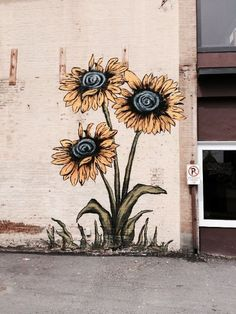 sunflower mural idea