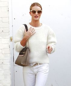 How to wear all white everything like a supermodel