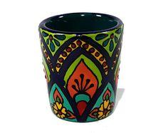 Teal Blue Talavera Style Mug/ Talavera Style by TheTikiQueen