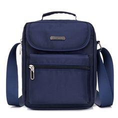 Luxury Men Business Messenger Bag for Man Oxford Casual Small Shoulder Bag Mens Blue Waterproof Nylon Strap Crossbody Bag,Brown