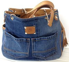 Jeans Taschen Blue Jean Quilts, Blue Jean Purses, Only Jeans, Diy Backpack, Denim Tote Bags, Denim Ideas, Canvas Handbags, Recycled Denim, Big Bags