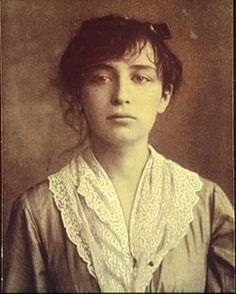 Camille Claudel, French sculptor; lovely gaze.