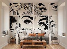 ohpopsi Black And White Pop Art Wall Mural ohpopsi http://www.amazon.co.uk/dp/B00L42PVBG/ref=cm_sw_r_pi_dp_l3eyub0YN743A