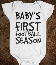 b1ab4a38f BABY'S FIRST FOOTBALL SEASON Baby Onesie, Funny Onesie, My Aunt Onesie,  Onesies,