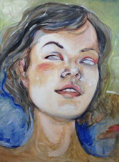 New self portrait. Modigliani eyes.   cargocollective.com/kinsey