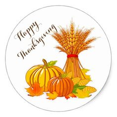 Thanksgiving Stickers/Happy Thanksgiving Classic Round Sticker