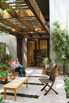 terrassengestaltung bilder veranda wintergarten pflanzen